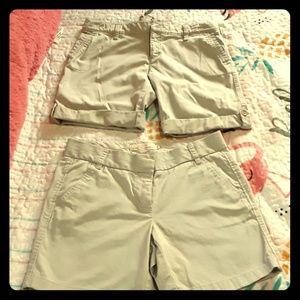 2 pair khaki shorts size 6